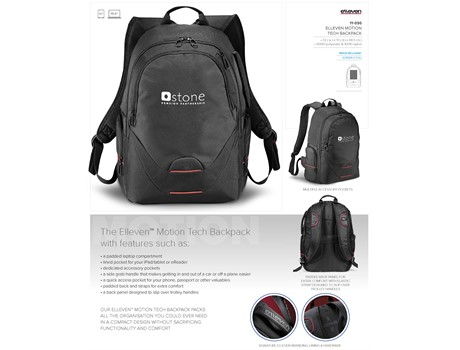Elleven Motion Tech Backpack Bags and Travel
