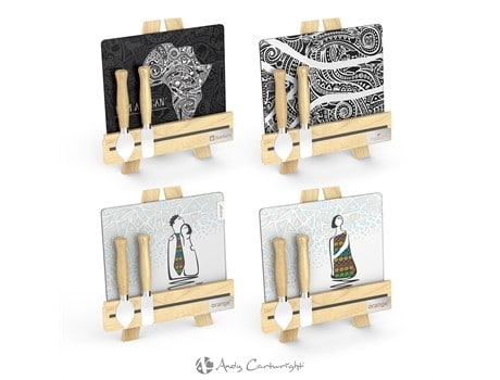 Andy Cartwright Palette L'Artiste Cheese Set Giftsets