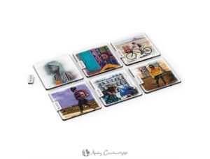 Andy Cartwright Afrique Glass Coasters Giftsets