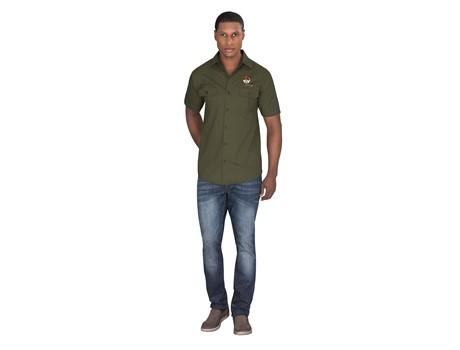 Mens Short Sleeve Oryx Bush Shirt Bush and Outdoor Gear