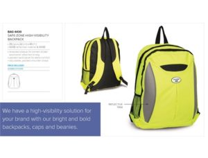 Safe-Zone High-Vis Backpack – Yellow Only