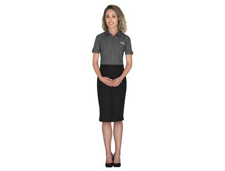 Ladies Short Sleeve Kensington Shirt Formal Wear