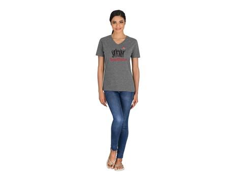 Ladies  Michigan Melange V-Neck T-Shirt Name Brands