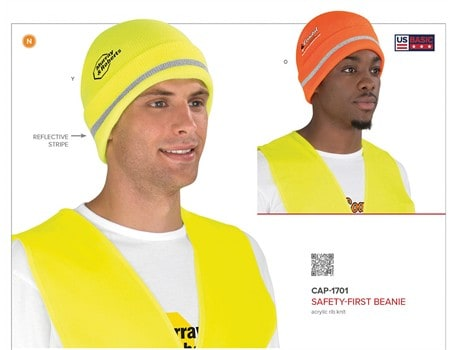 Safety-First Beanie – Orange Only Headwear and Accessories