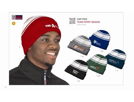 Team Spirit Beanie Headwear and Accessories