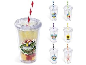 Malibu Double Wall Tumbler – 470ml Drinkware