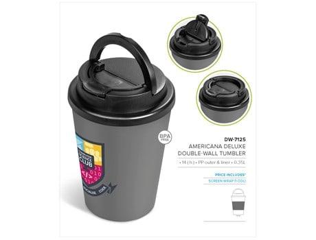 Americana Deluxe Double-Wall Tumbler – 350ml Drinkware