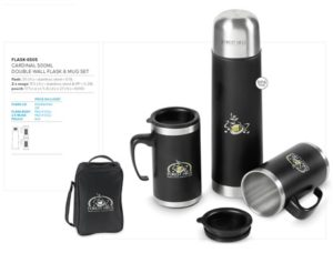 Cardinal 500Ml Double-Wall Flask & Mug Set Drinkware