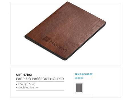 Fabrizio Passport Holder Giftsets