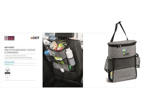 Greyston Backseat Cooler & Organiser Name Brands