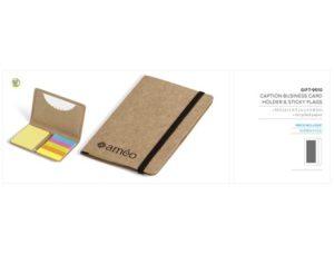 Caption Business Card Holder & Sticky Flags Environmentally Friendly Ideas