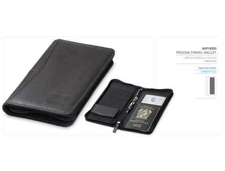 Pedova Travel Wallet Giftsets