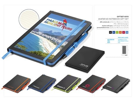 Avatar A5 Notebook Gift Set – Black Only Notebooks and Notepads