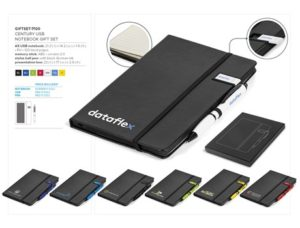Century Usb Notebook Gift Set- Black Only