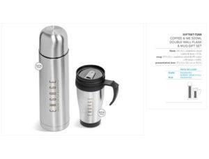 Coffee-&-Me 500Ml Double-Wall Flask & Mug Gift Set