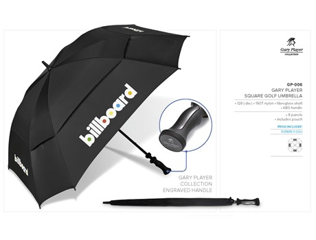 Gary Player Square Golf Umbrella Beach and Outdoor Items