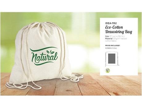 Eco-cotton Drawstring Bag Bags and Travel