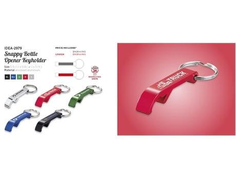 Snappy Bottle Opener Keyholder Keyrings and Lanyards