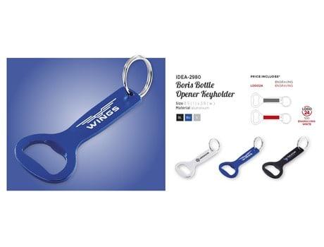 Boris Bottle Opener Keyholder Keyrings and Lanyards