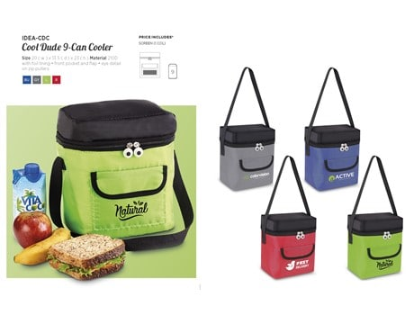 Cool Dude 9-Can Cooler Bag Beach and Outdoor Items