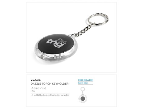 Dazzle Torch Keyholder Keyrings and Lanyards