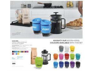 Kooshty Brew Koffee Set With Black Plunger Drinkware