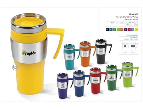 Altos Double-Wall Travel Mug – 450ml Drinkware
