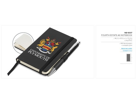 Fourth Estate A6 Notebook – Black Only Notebooks and Notepads