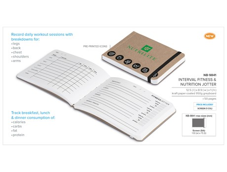 Interval Fitness & Nutrition Jotter Sports and Wellbeing
