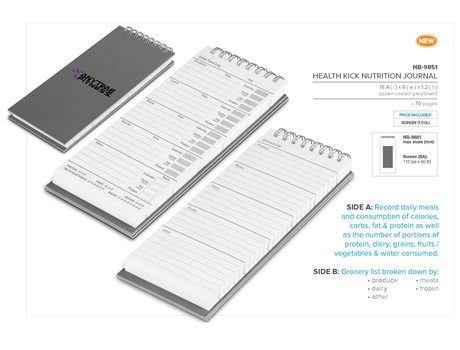 Health Kick Nutrition Journal Sports and Wellbeing