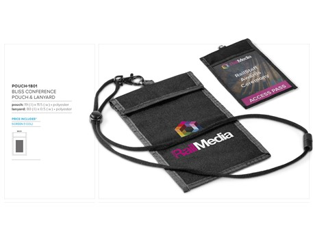 Bliss Conference Pouch & Lanyard Keyrings and Lanyards