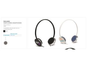 Tempo Headphones – Black Only