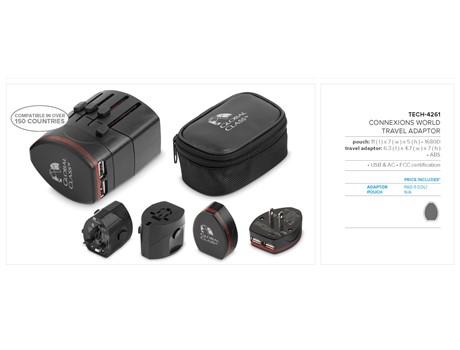 Connexions World Travel Adaptor Giftsets 3