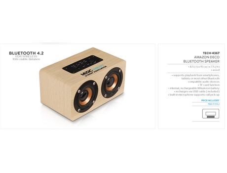 Amazon Deco Bluetooth Speaker – Natural Technology