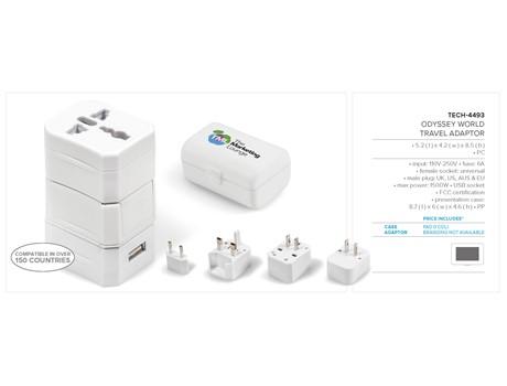 Odyssey World Travel Adaptor Technology 3