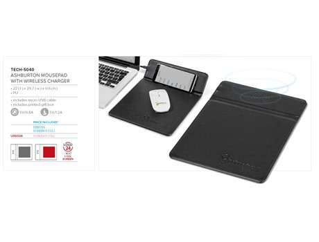 Ashburton Mousepad With Wireless Charger Technology