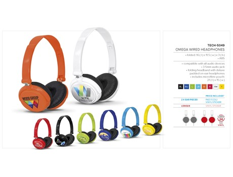 Omega Wired Headphones Summer Idea Give-Aways