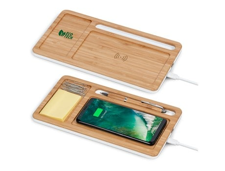 Maitland Desk Organiser With Wireless Charger Environmentally Friendly Ideas