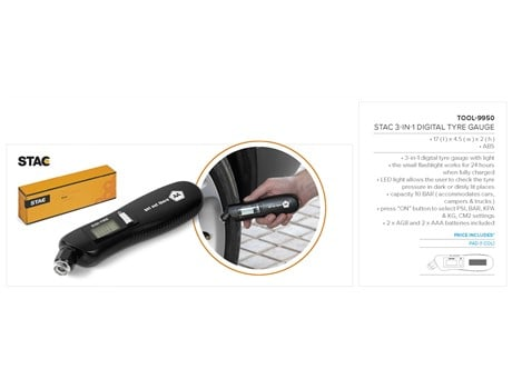 Stac 3-In-1 Tyre Gauge Technology