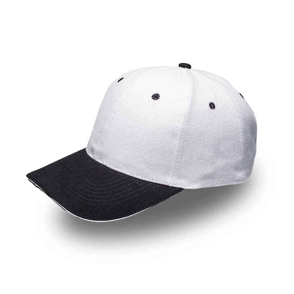 Brushed Cotton Two Tone Cap Headwear and Accessories