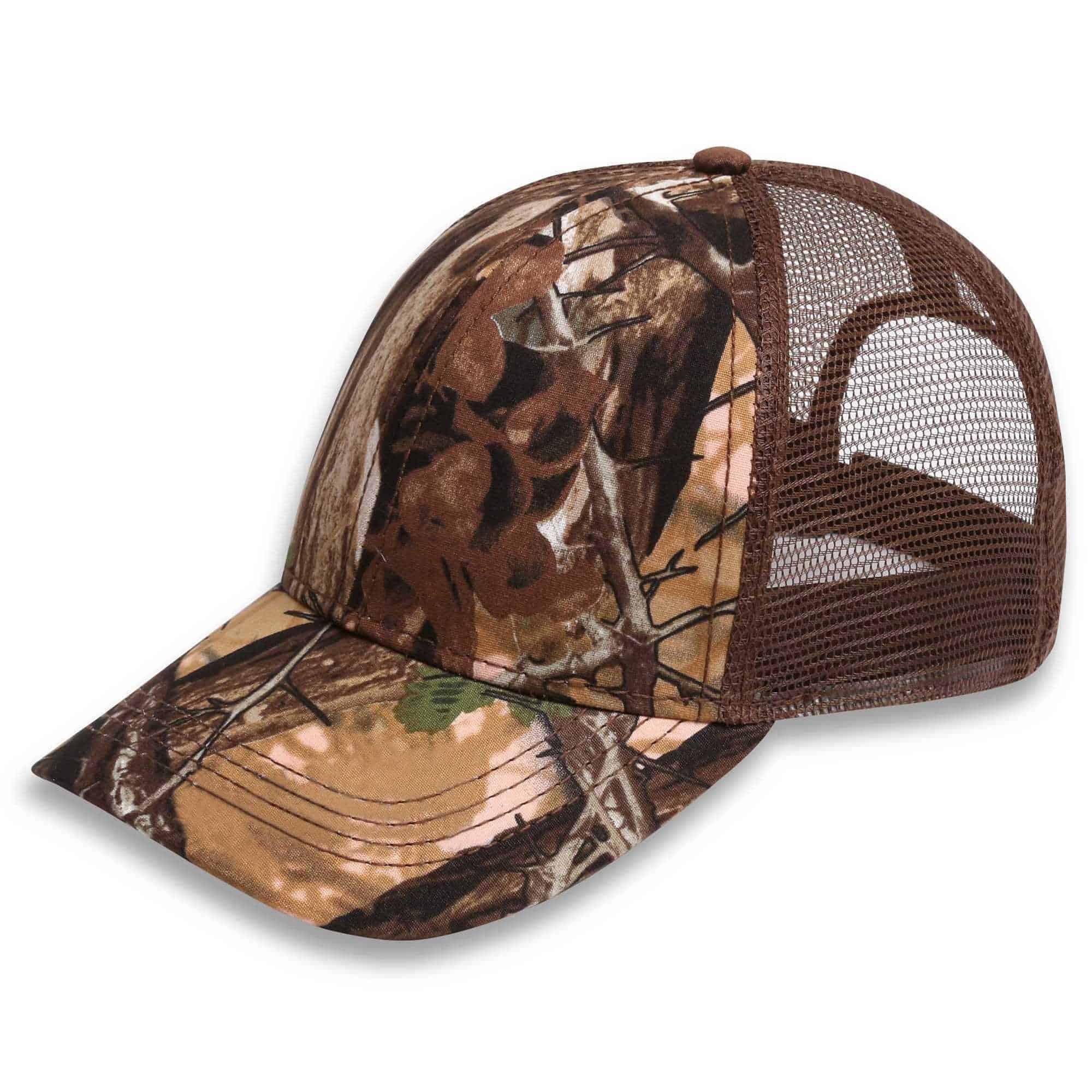 A18604 Acacia Thorn Camo Trucker Headwear and Accessories