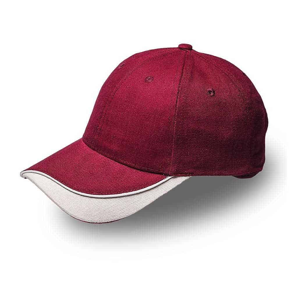 Brushed Cotton Razor Peak Cap Headwear and Accessories