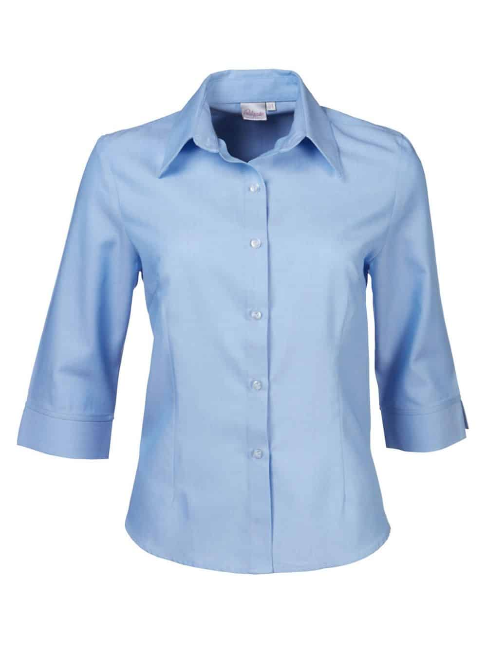 Blouse Wendy Short Sleeve Pin Point Oxford Lounge Shirts and Blouses