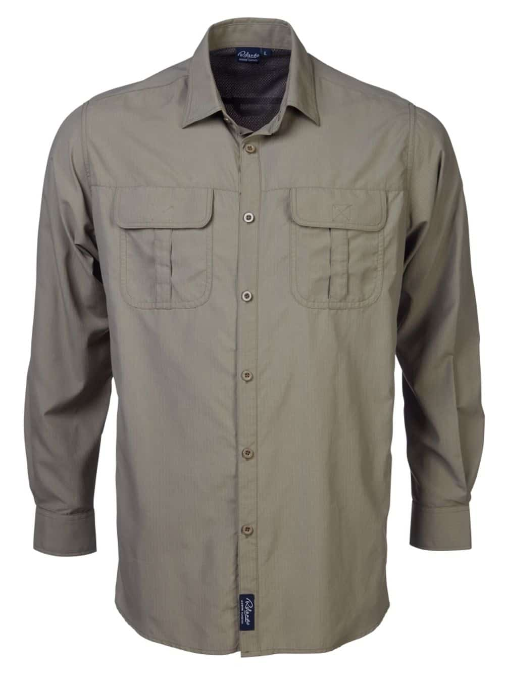 L/Sleeve Safari Shirt With Sleeve Tabs Lounge Shirts and Blouses