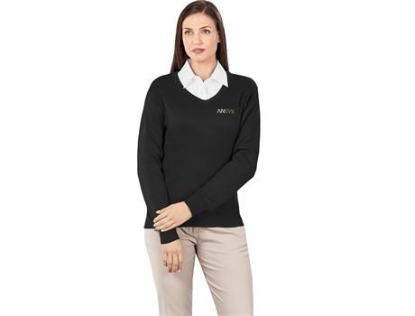 Ladies Long Sleeve Peru V-Neck Jersey Jackets and Polar Fleece