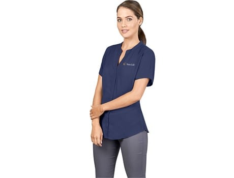 Ladies Short Sleeve Ava Blouse Lounge Shirts and Blouses