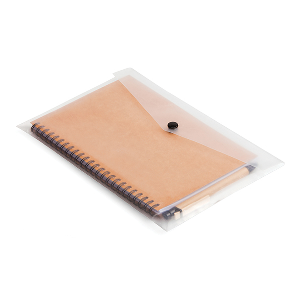 A5 Eco Notebook & Pen in clear sleeve Eco-friendly Products