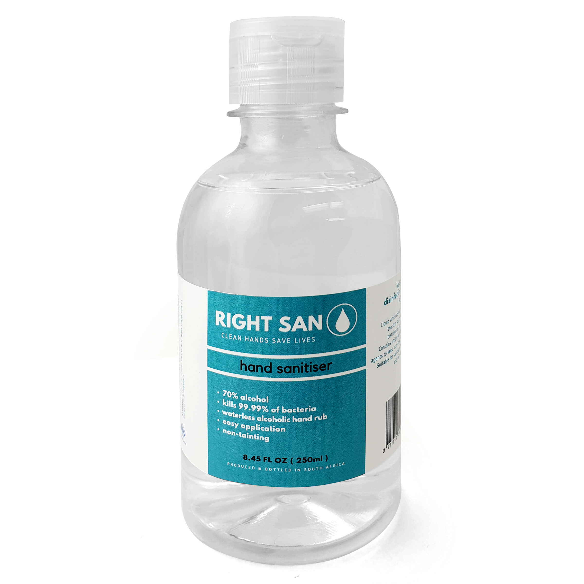 250ml Right San Liquid Hand Sanitiser First Aid and Personal Care