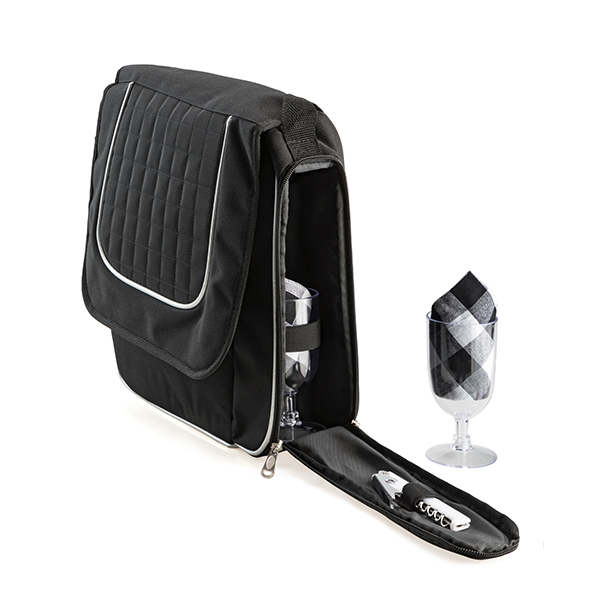 Wine Cooler Satchel Bag for 2 Beach and Outdoor Items