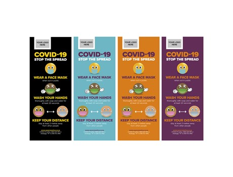 Antares COVID-19 Pull-Up Banner Advertising Display Items